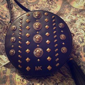 MIchael Kors Lion Studded Leather Crossbody